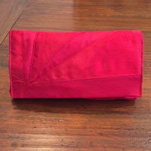 Handbags - Red Cloth Clutch Bag
